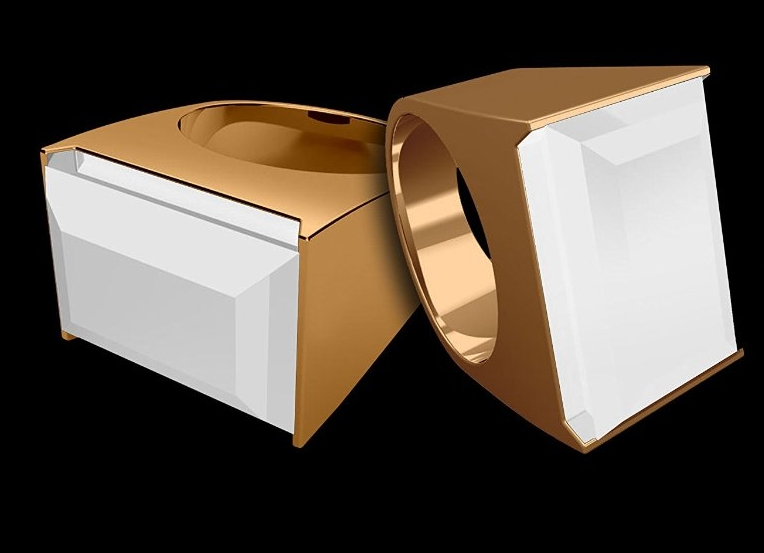 7 Ares Smart Ring Gold