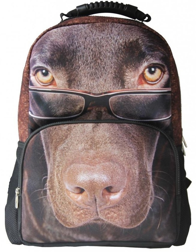 Animal FaceTM 3D Chocolate Lab Puppy Backpack