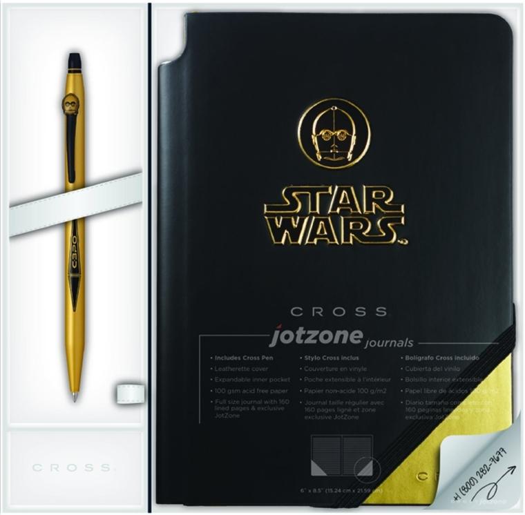 C-3PO Click Gel Ink Pen & Jot Zone Journal
