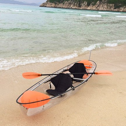 Crystal Clear Transparent 2 Person Kayak