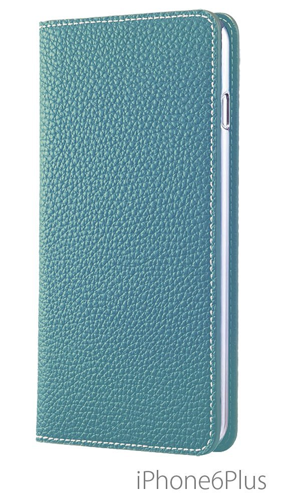 Leather Case with Slots for Credit Cards and Cash for iPhone 6S Plus6 Plus 5.5 Inch - Aquablue