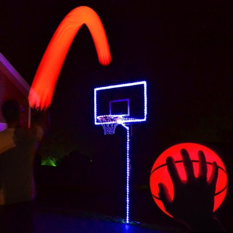 Light Up Basketball Hoop Kit with LED Basketball
