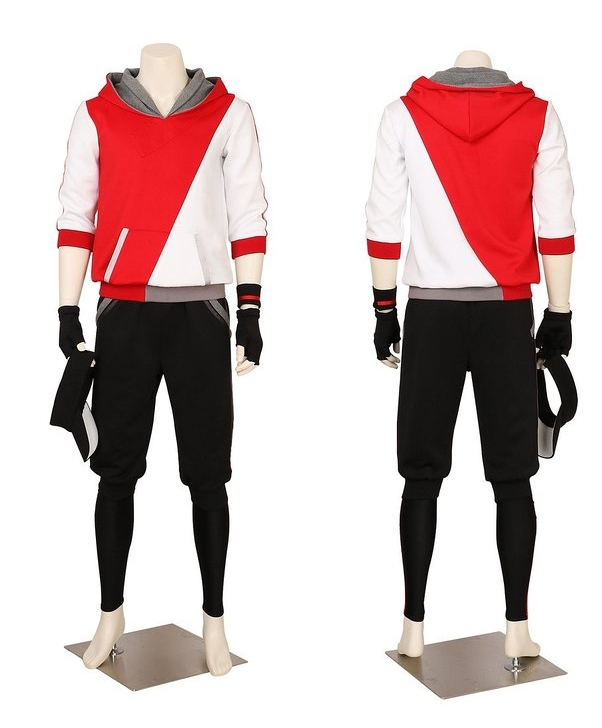 Men's Pokemon Go Trainer Team Valor Instinct Mystic Cosplay Costume