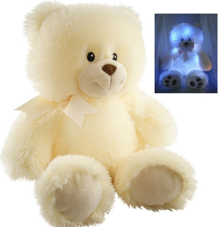Nite Brite Pals Stuffed Toy Teddy Bear