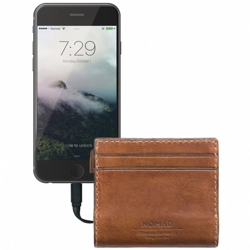 Nomad Slim Horween Leather Charging Wallet for iPhone