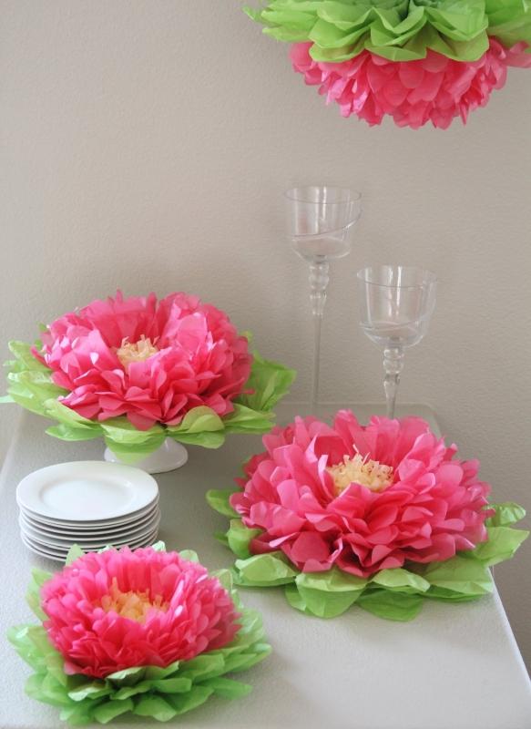 Paper Flower Pom (Set of 7) Color