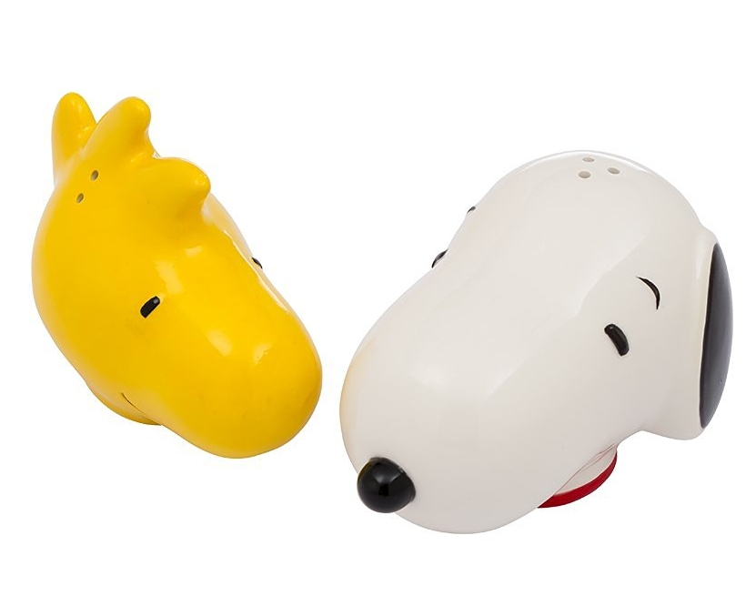 Peanuts Snoopy and Woodstock Ceramic Salt and Pepper Set