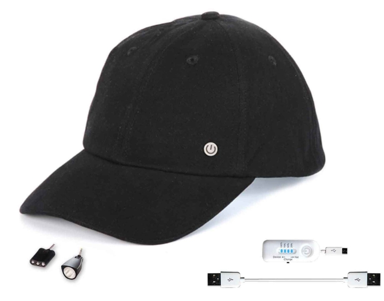 Power Gear Cell Phone Charging Hat with Attachable LED Lights