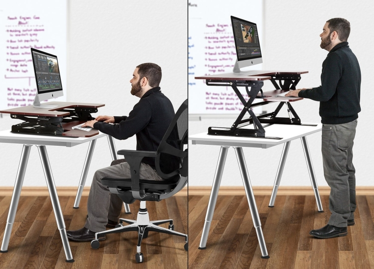 Preassembled Height Adjustable Sit  Stand Elevating Desktop