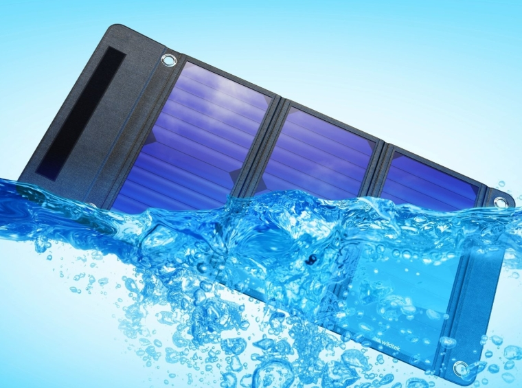 SOURCE 21W Waterproof Portable Solar Charger Panel with Dual USB Ports
