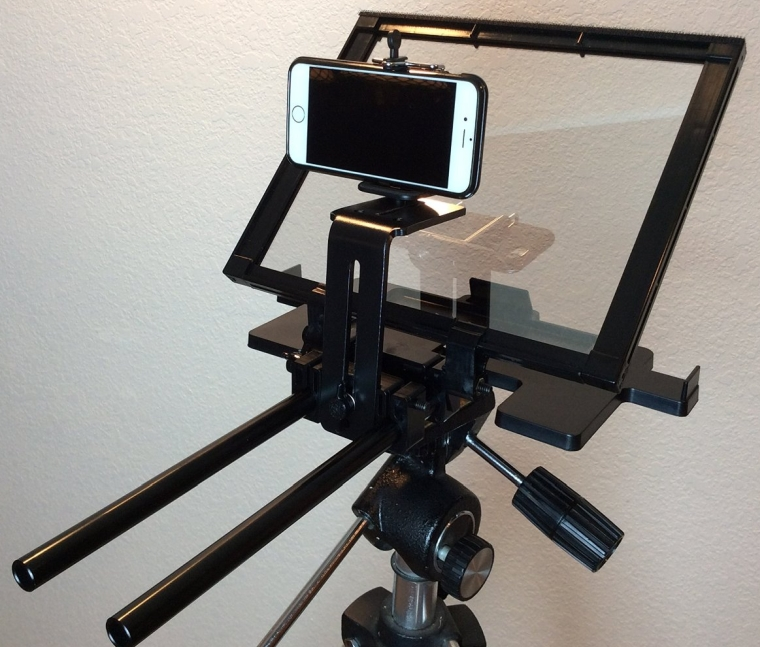 Teleprompter Simple Professional Portable use any tablet, iPad or phone