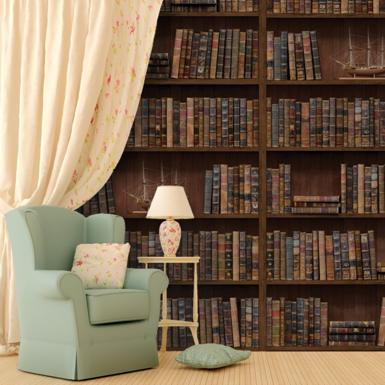 Wall Stickers Vintage Library