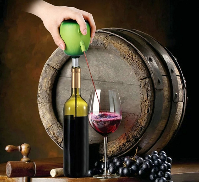 Wine Pourer Electric Red Wine Decanter Homebrew Pump Apple Style Cider Appliance Wine Aerator Quality Wine Accessories