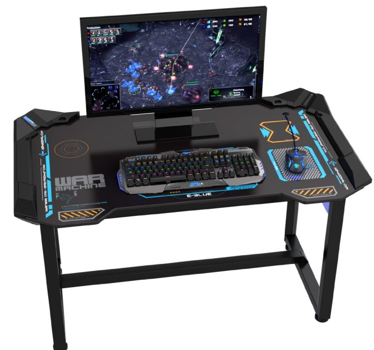 Wireless Glowing LED PC Gaming Desk Table