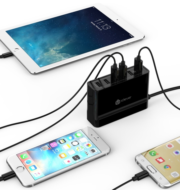 iClever BoostCube+ 60W 6-Port USB Desktop Charger