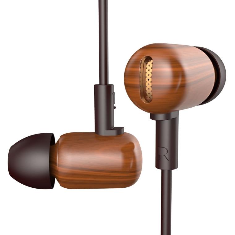 sandalwood Noise Isolation In Ear Headphones with Heavy Deep Bass