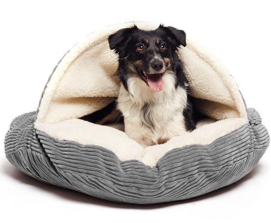 cave-hamburger-pet-bed-with-sherpa-interior-plush-fur-interior