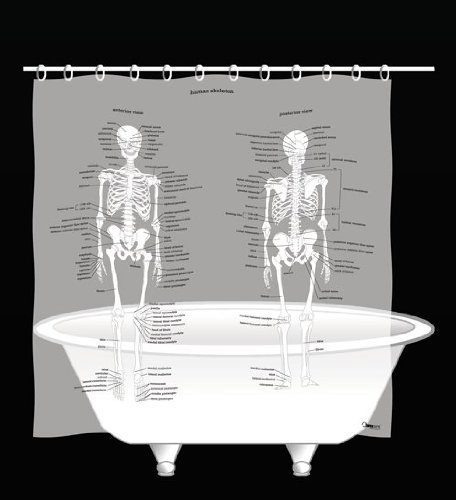 human-skeleton-shower-curtain