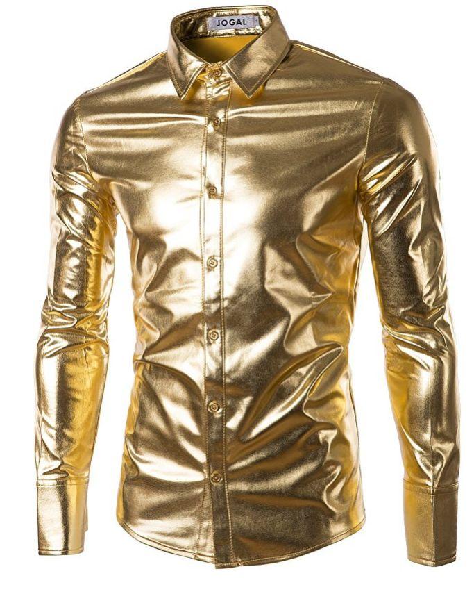 jogal-mens-trend-nightclub-styles-metallic-silver-button-down-shirts