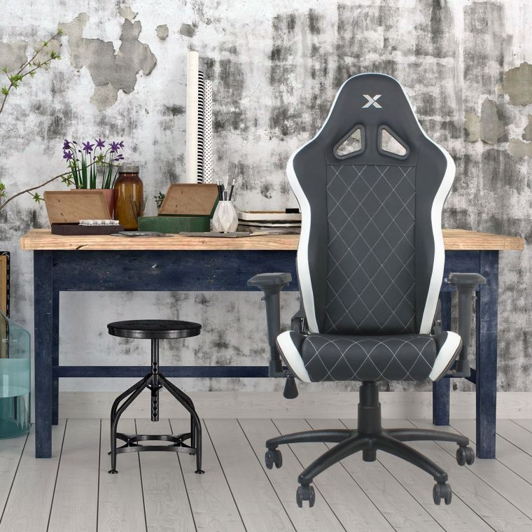 ferrino-line-white-on-black-diamond-patterned-gaming-and-lifestyle-chair