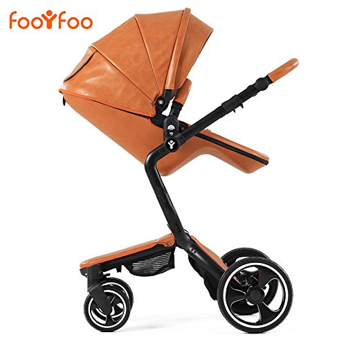 luxury-pu-leather-high-landscape-baby-strollers