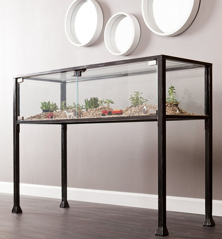 terrarium-display-console-in-black-and-silver