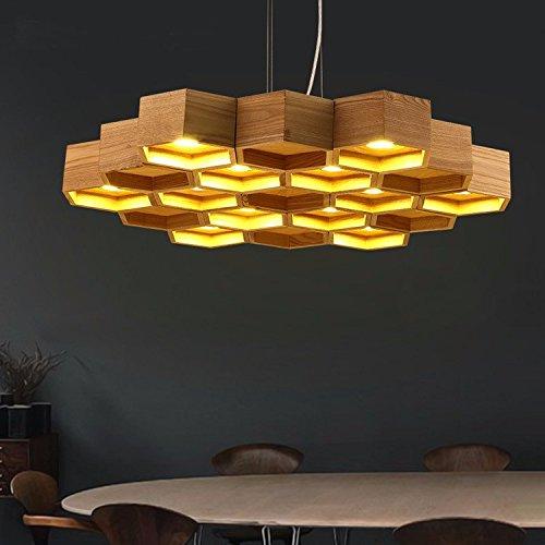 artistic-creativity-personality-chandelier-restaurant-bar-modern-minimalist-honeycomb