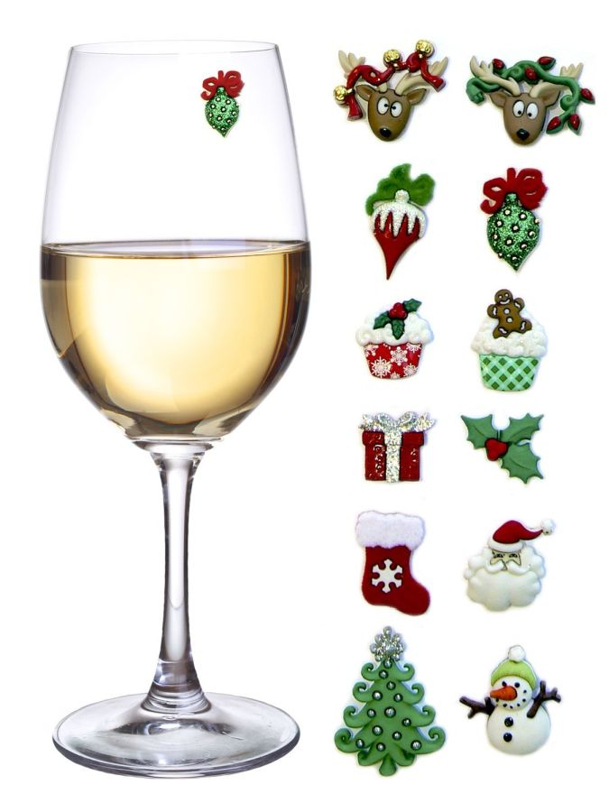 christmas-holiday-magnetic-wine-glass-charms-cocktail-markers-set-of-12