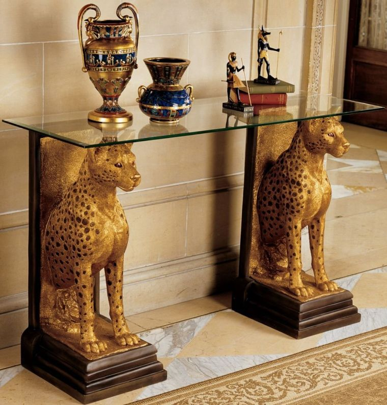 sculptural-glass-topped-console-table