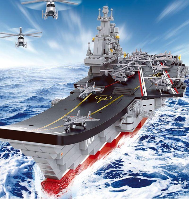 sluban-building-blocks-1450-aircraft-carrier-plan-liaoning-1058pcs-b0399-compatible