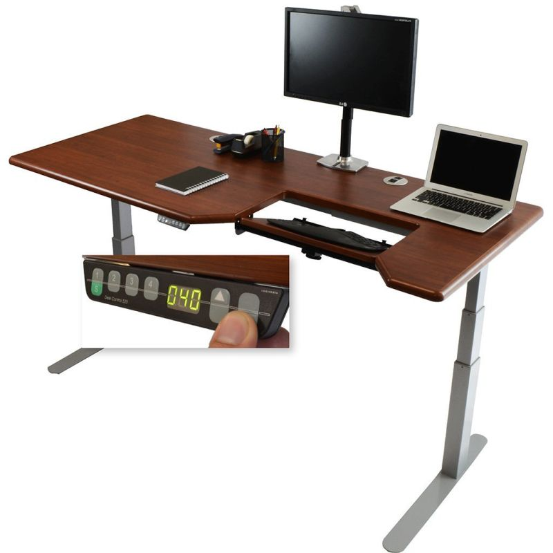 standing-desk-w-steadytype-adjustable-ergonomic-keyboard-tray-built-in-4-programmable-height-presets-silver-bas