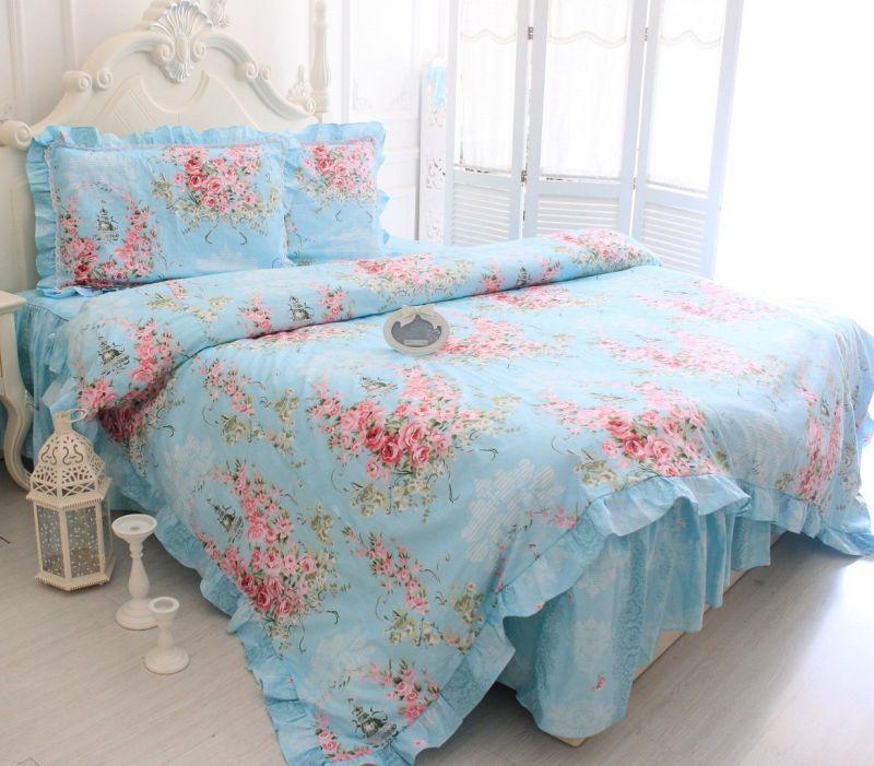 blue-rose-print-bedding-sets-romantic-rose-duvet-cover-set