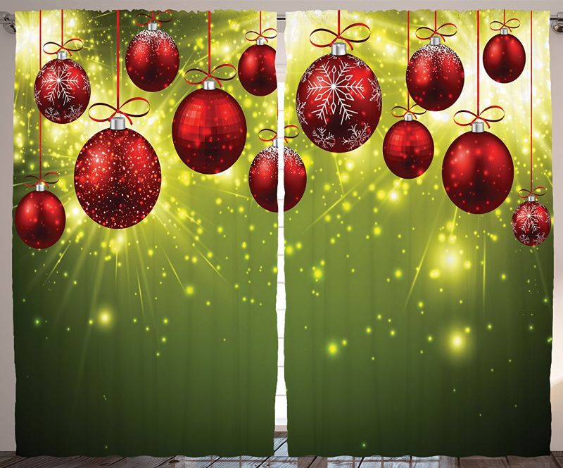 christmas-curtain-green-christmas-decorations-bedroom
