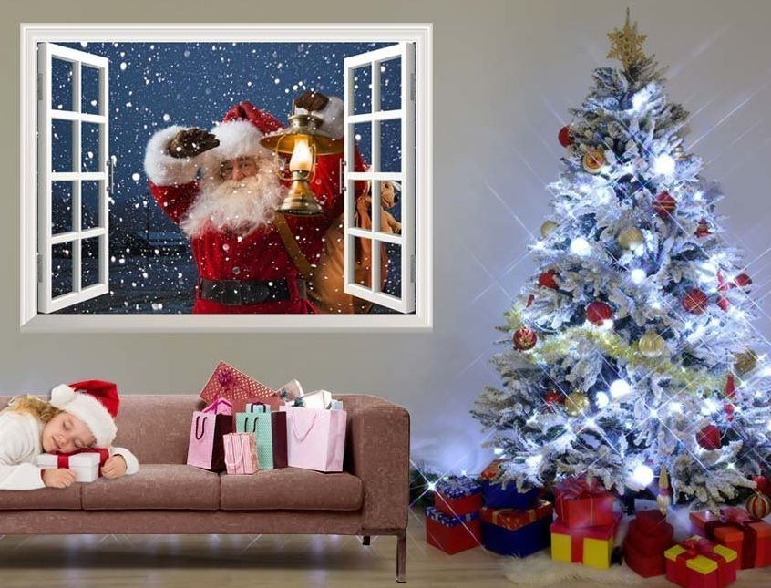 removable-wall-sticker-wall-mural-santa-claus