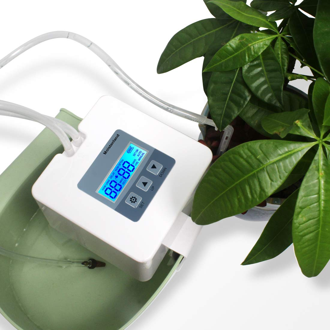 DIY Micro Automatic Drip Irrigation Kit,Houseplants Self Watering System with 30-Day Digital Programmable Water Timer 5V USB Power Operation for Indoor Potted Plants Vacation Plant Watering