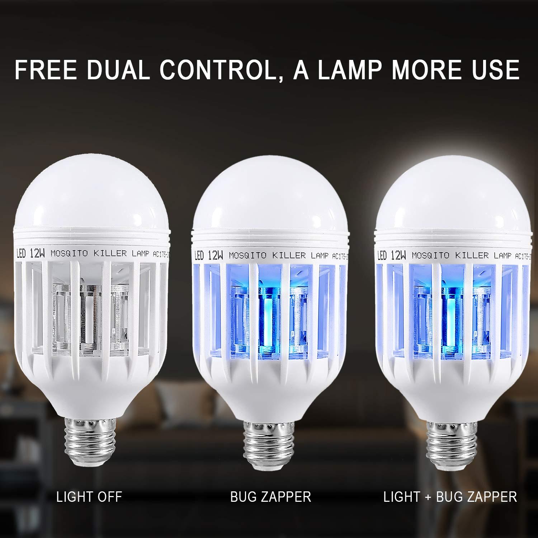 Mosquito Killer Lamp E27 Base Bug Zapper Light for Indoor Outdoor