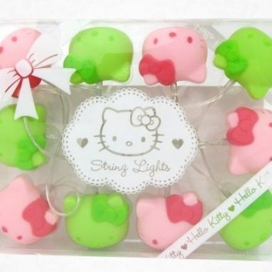 Hello Kitty Pink and Green String Lights
