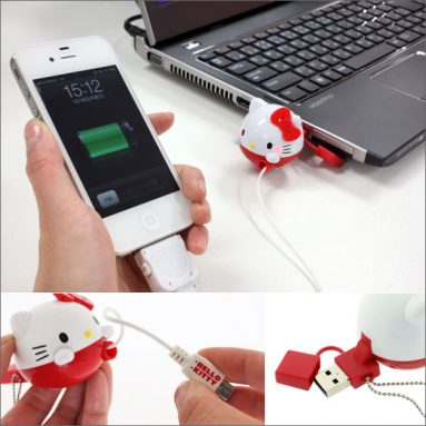 Sanrio Hello Kitty Face-shaped USB Charger for iPhone and iPod