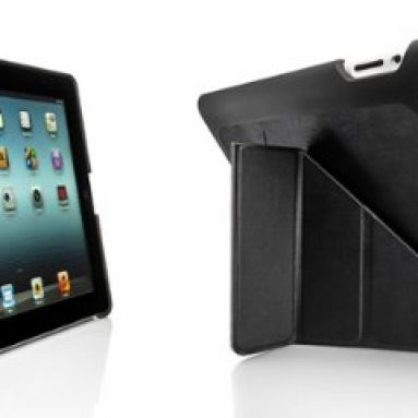 Pong New iPad WiFi + 4G 5-positions Leather-like Black Case