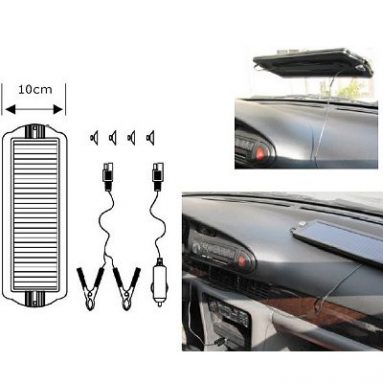 Solar vehicle trickle charger