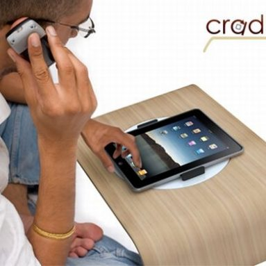 Lightweight lap desk 'Cradle' for Apple iPad