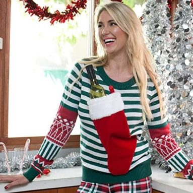 Women's Christmas Stocking Tacky Sweater