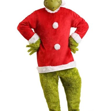 Grinch Costume with Grinch Mask