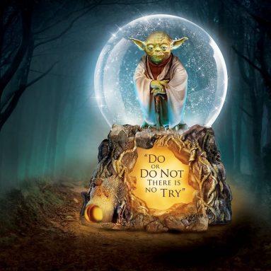 The Star Wars Yoda Musical Glitter Globe