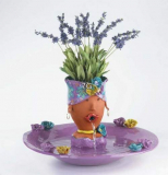 Funny hand painted fountain