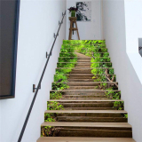 3D Stair Stickers Wall Decor