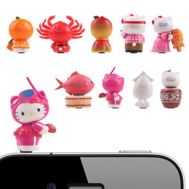 Sanrio Hello Kitty Earphone Jack Accessory Complete Set