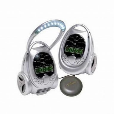 Vibrating Alarm Clock with flashing LED Lights and Telephone Ring Signaler