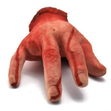 Halloween Haunted House Yard Prop Blood Body Severed Human Male Hand