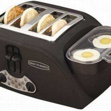 Muffin 4-Slice Toaster and 2 Egg Cooker